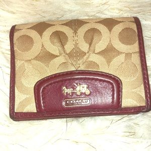 Authentic Coach Signature wallet (Small)